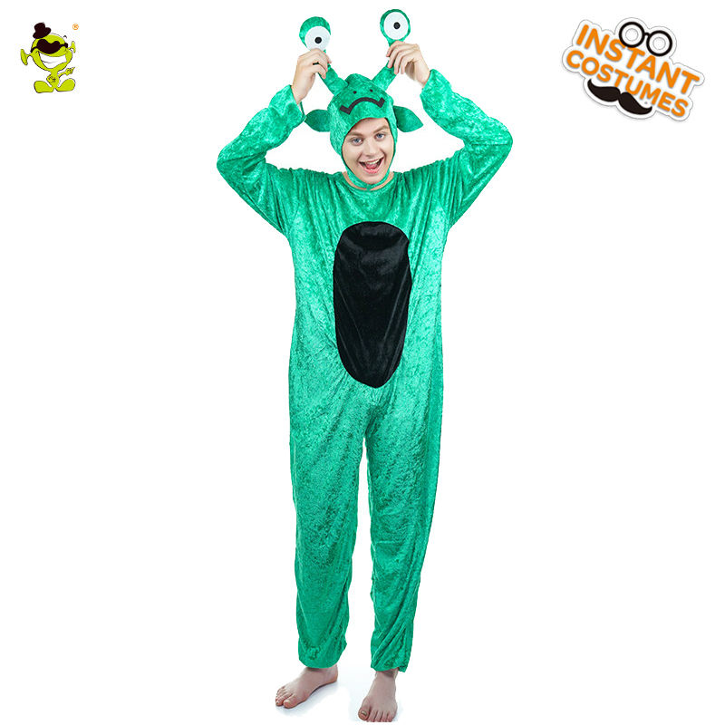 Adult Man Snail Pajamas Costumes Fancy Dress Cute Green Sleepwear Cosplay One Size Funny Pajamas Men's Christmas Carnival Party