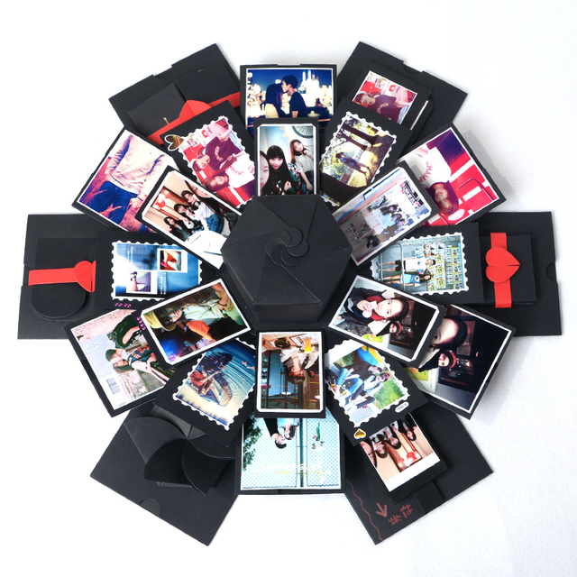 DIY Explosion Gift Box Storage Birthday Valentines Handmade Photo Album With Accessories
