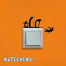Sticker Vinyl Penguins Light Switch font b Vinilo b font Pegatina Wall Art Decal