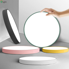 Нордический минимализм круглые металлические светодиодные потолочные светильники Гостиная приложение затемняемый Светодиодный потолочный светильник спальня светодиодные потолочные светильники