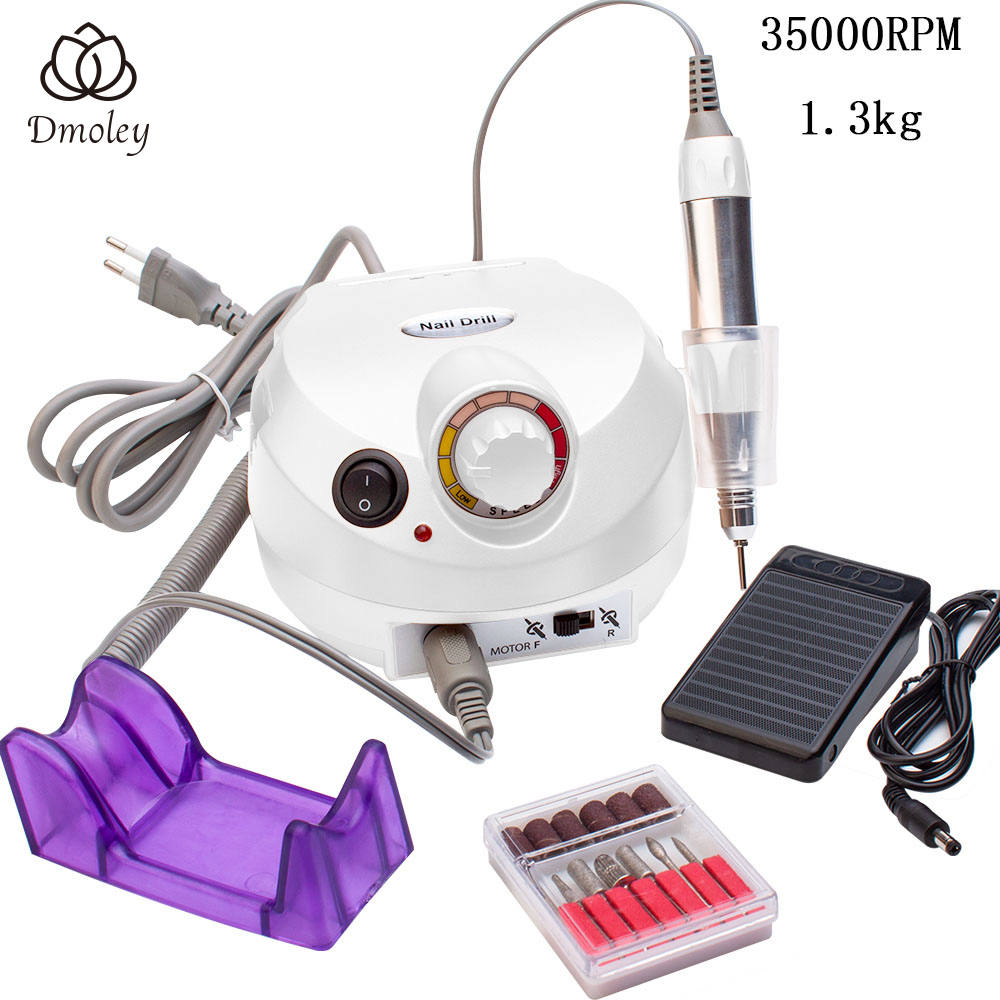 35000RPM Pro Electric Nail Drill Cutters for Manicure with Tungsten Case Anti scald Handle Machine for