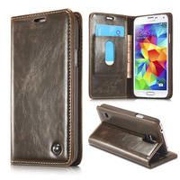 Luxury Original Phone Case For Fundas Samsung Galaxy S5 Mini Cover High Quality Vintage Leather Case