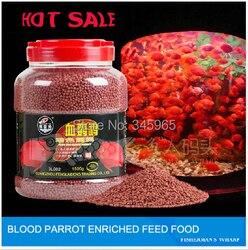 Frete grátis peixes tropicais atacado sangue papagaio alimentos para animais, 500 g