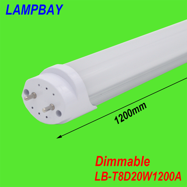 (4 Pack) Free Shipping Dimmable LED TUBE 4FT 20W Milky Clear cover available T8 lamp highe quality high lumens