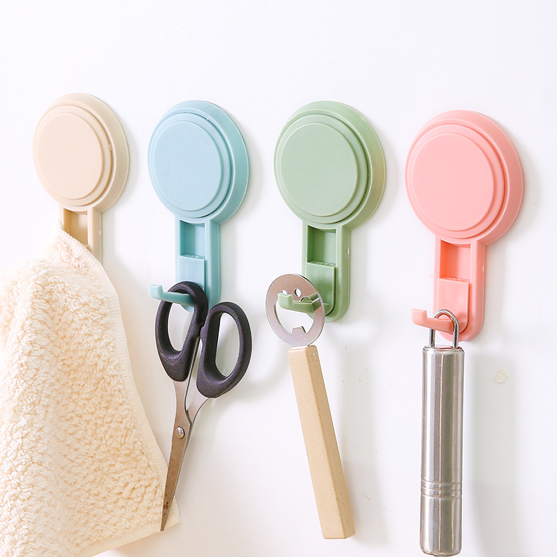 1pcs Powerful Kitchen Hooks Suction Cup for Towel Strong Adhesive Hooks Bathroom Wall Hooks