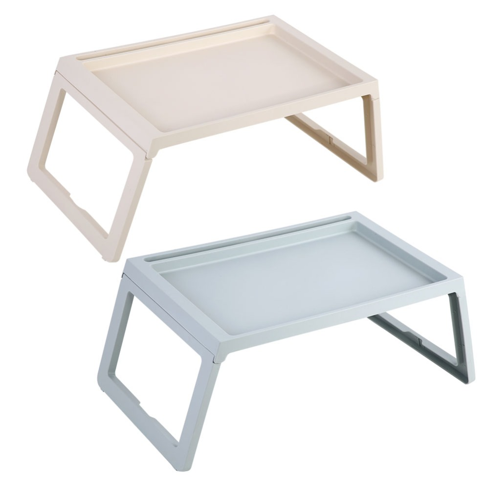 PP Plastic Foldable Desk Breakfast Bed Table Computer Laptop Holder Portable Serving Tray for Home Office Outdoor etc