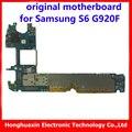 32 gb de memoria 3 gb ram placa base original para samsung s6 g920f Android OS 5.0 4G mainboard el 100% bueno sistema de lógica de trabajo junta