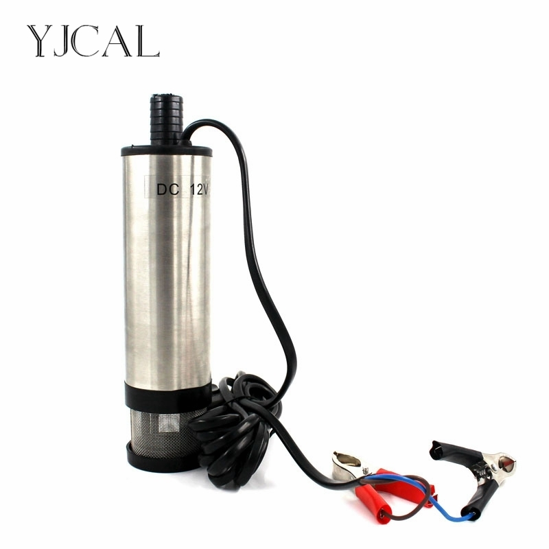 Stainless Steel Portable Submersible Diesel Electric Water Oil Pump 12V 24V 51mm With Removable Filter Net And Halfway Switch
