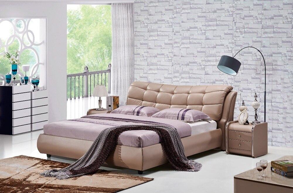 the modern designer leather soft bed large double bedroom furniture