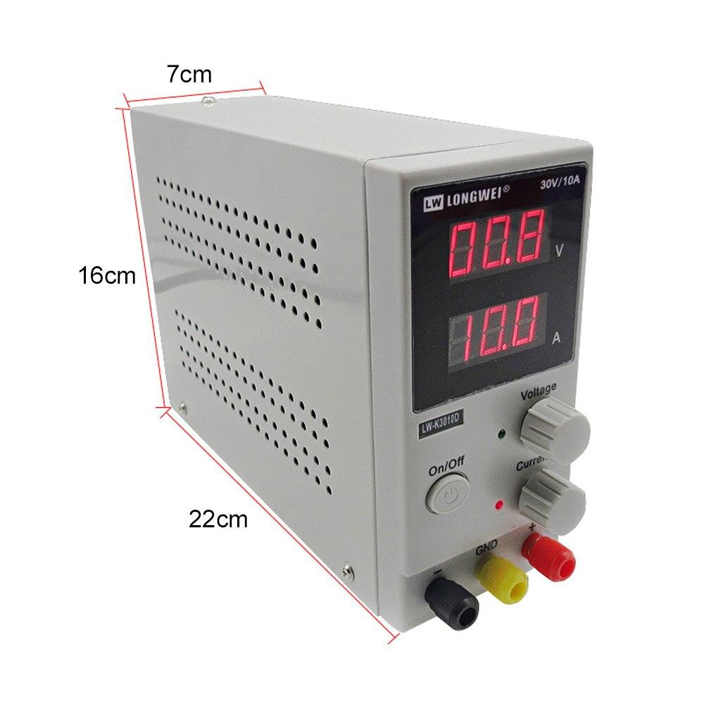 LW3010D fuente de alimentación DC 30 V 10A Mini Digital ajustable DC supplise de conmutación de la fuente de alimentación de 3 dígitos de laboratorio de reparación herramienta - 3