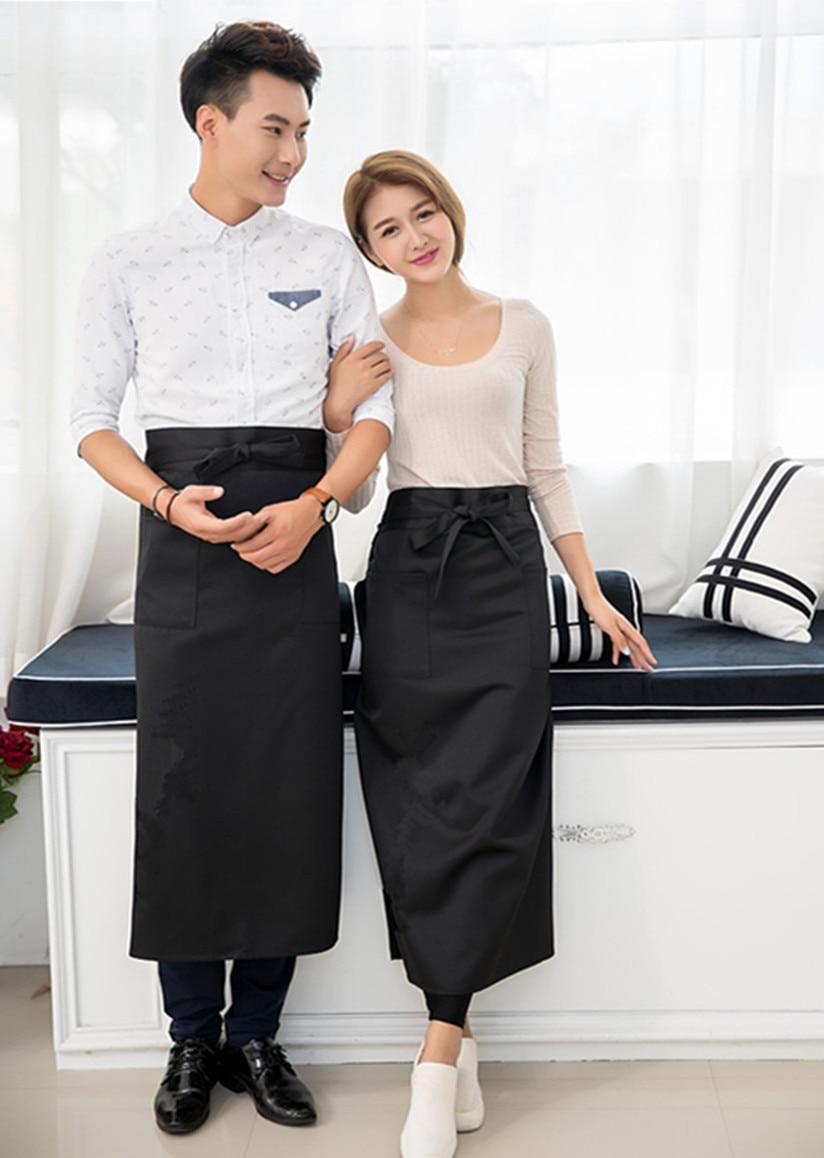 Buy white apron online - Apron Black Waist Half Pinafore Commercial Restaurant Chef Bib Waiter Cuisine Delantal Workshop Work Apron Delantal