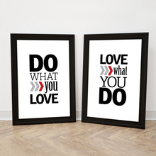 Do What You Love Motivational Canvas Paintings Poster Scandinavian Oil Wall Art Pictures Living Room No Frame