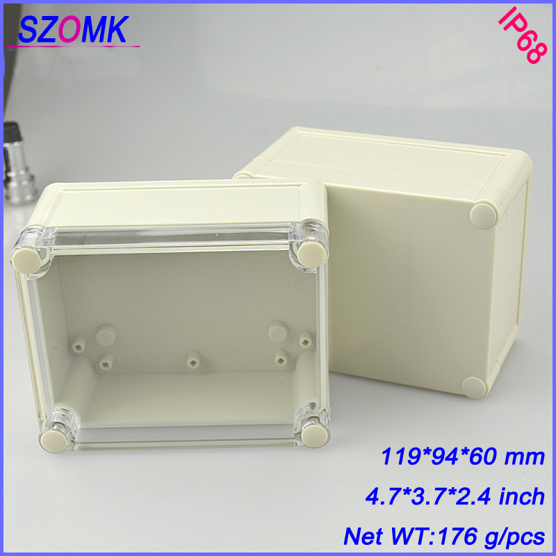 цены  transparent cover distribution box junction housing (1 pcs) 119*94*60mm enclosure for electronics waterproof plastic enclosure