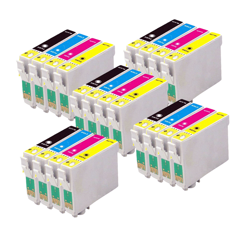 20 Compatible EPSON Ink cartridge for stylus SX130 SX-130 SX 130 Printer 4pcs set compatible ink cartridge epson t0321 t0322 t0323 t0324 for epson stylus c70 c70 c80 c80n c80wn