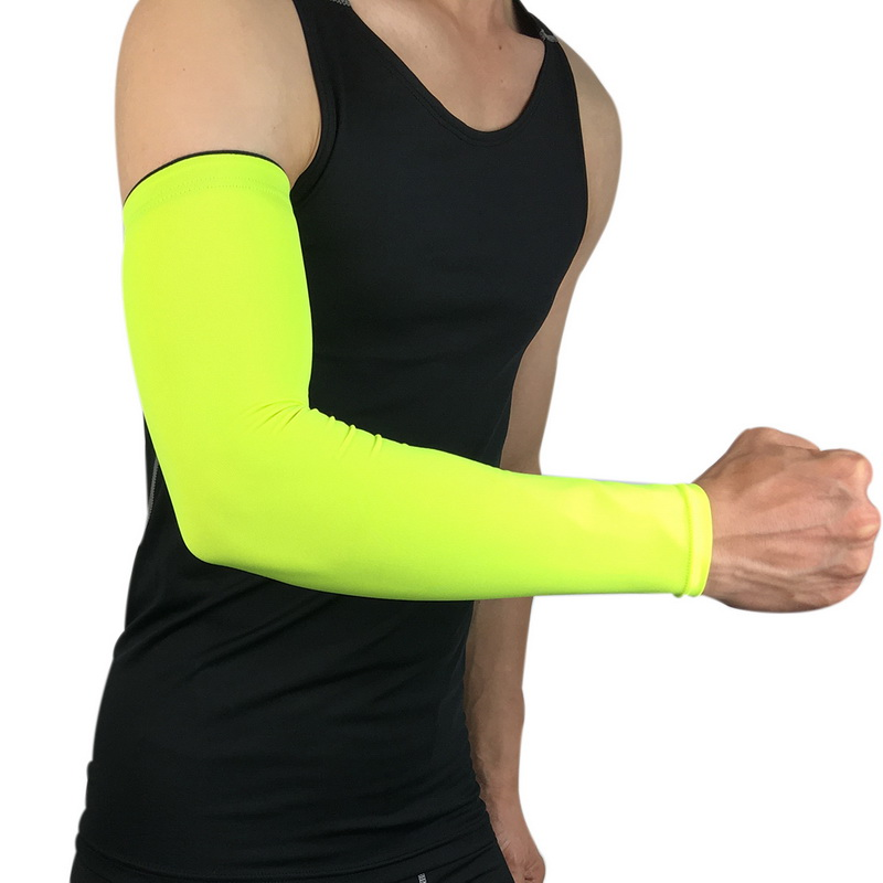 Apparel Accessories Men's Accessories Laamei Breathable Quick Dry Arm Sleeves Uv Protection Compression Running Basketball Elbow Pad Fitness Sports Arm Warmers