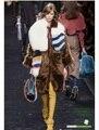 Знаменитости впп стиль женские зимние теплый шарф, роскошь натурального меха лисы длинный шарф с хвостом, мода женские меховые шарфы