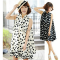 maternity dress dot casual dresses novelty cute maternity clothing clothes for pregnant women chiffon dress summer
