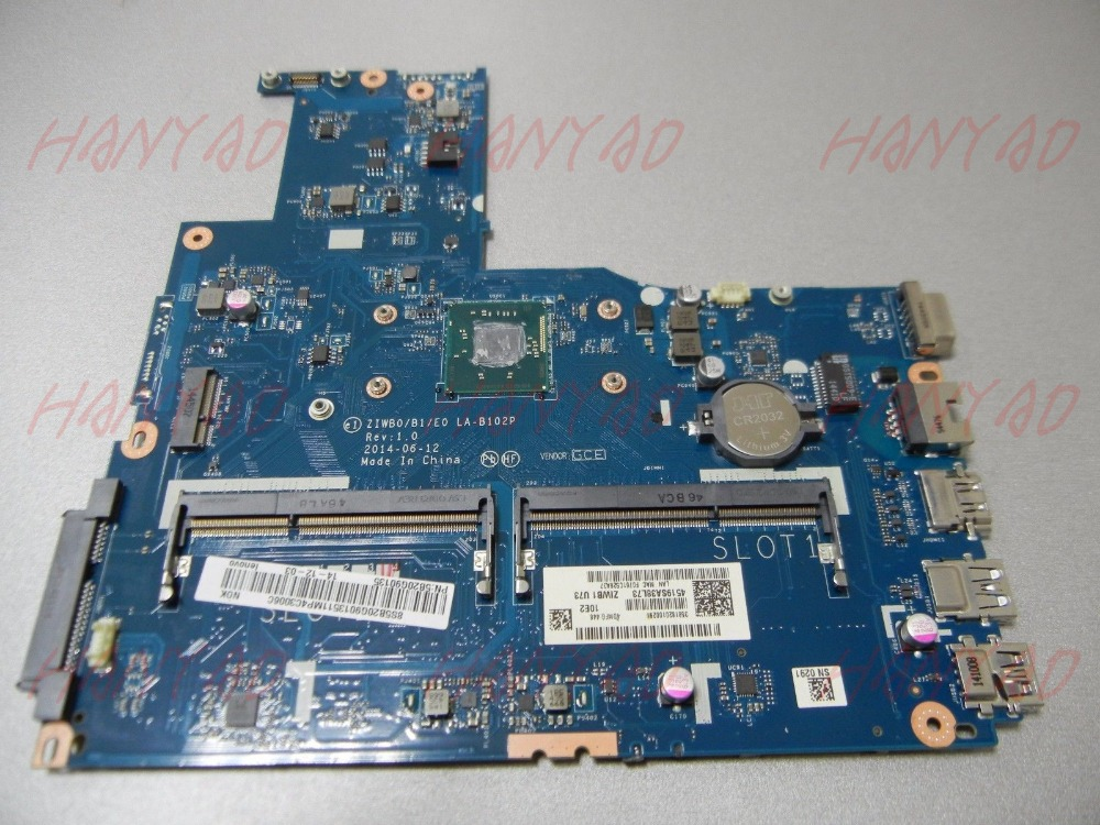 ZIWB0B1E0 LA-B102P For Lenovo B50-30 Laptop Motherboard With N3540 CPU DDR3L MainBoard Full Tested 100%workingZIWB0B1E0 LA-B102P For Lenovo B50-30 Laptop Motherboard With N3540 CPU DDR3L MainBoard Full Tested 100%working