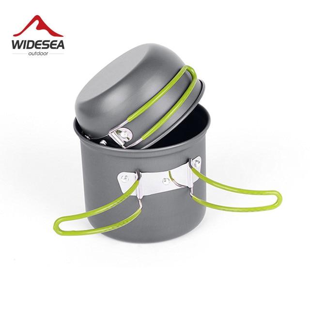 Ultralight Camping Cookware Utensils outdoor tableware set Hiking Picnic Backpacking Camping Tableware Pot Pan 1-2persons 4