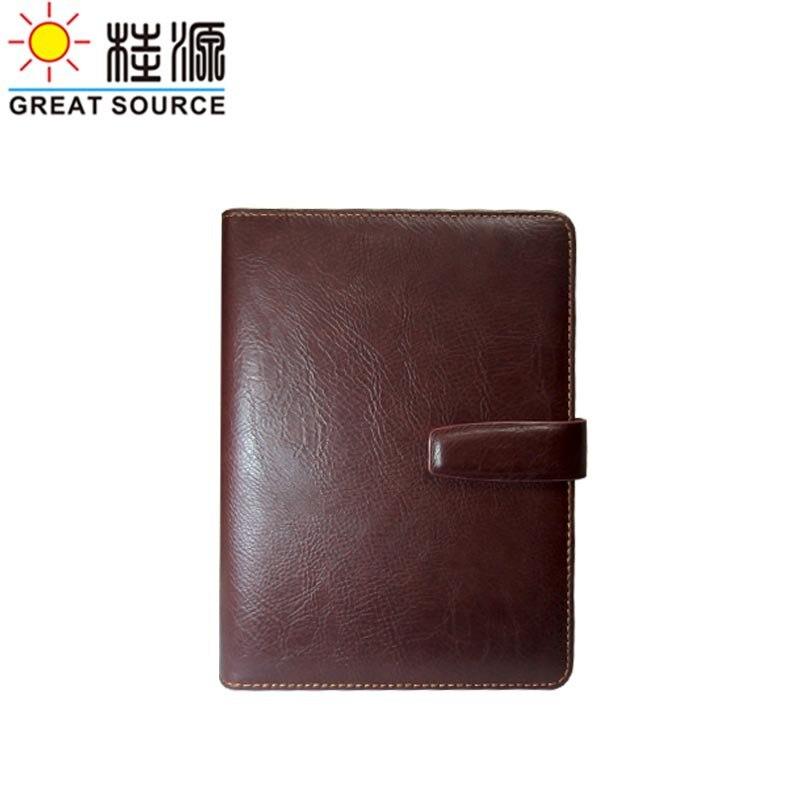 А5 записная книжка календарь прозрачная ручка сумка кожаный чехол записная книжка wtih календарь планировщик Органайзер - Цвет: Wine red