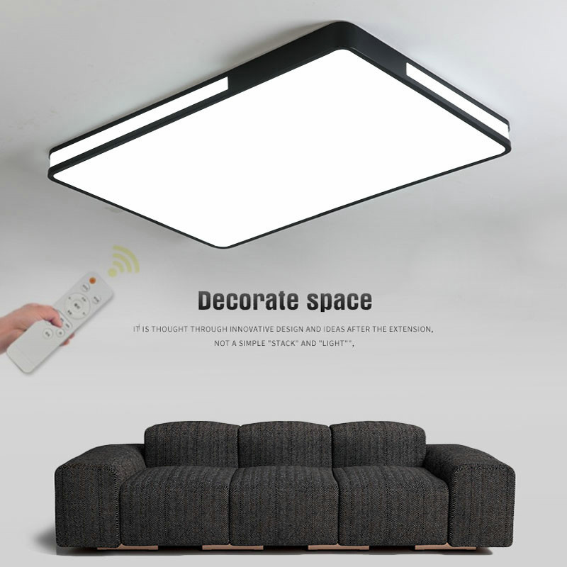 Modern ceiling Lights Fixture Living room Bedroom Dining room plafondlamp Black White Color Remote Control Dimmable ceiling lamp