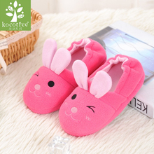Kocotree Children'S Cotton Shoes Kids Home Slippers Boys And Girls Baby Cute Rabbit Ears Plush Ball Thickening Warm Indoor Shoes