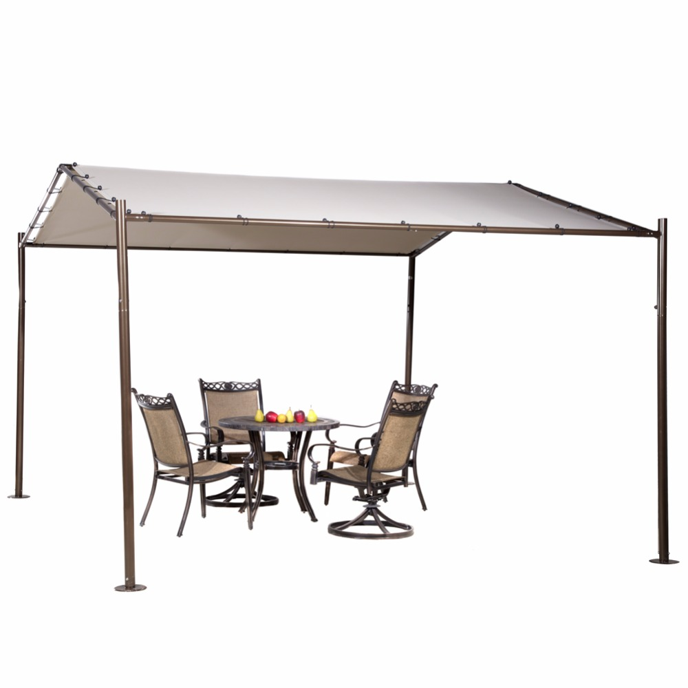 abba patio portable outdoor canopy garden gazebo 13 x 115 beigechina - Outdoor Canopies