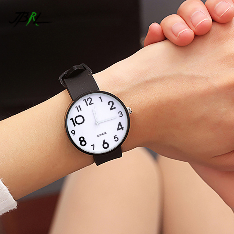 Women Watches Silicone Watch Ladies Fashion Big Number Quartz Wrist Watch For Women Clock Female Wristwatches Montre Relogio
