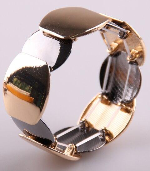 Винтажный Роскошный металлический браслет с геометрическим рисунком Золотой/большой блестящий сплав мужской женский браслет браслеты