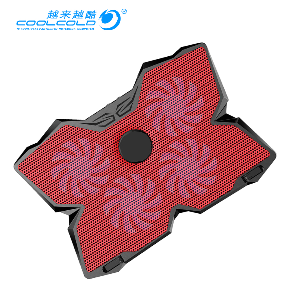 CoolCold 4 FAN Laptop Cooler Air Exhaust Cooling Fan CPU Cooler for Notebook computer hardware cooling