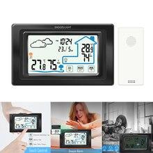 Digital Igrometro Wireless Touch Screen Stazione Meteo di Umidità di Temperatura del Tester Igrometro Tavolo Tocco Decorativo Orologio
