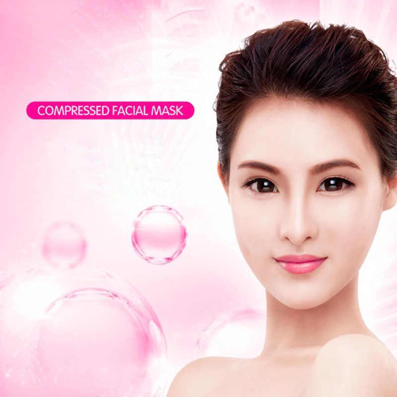 50 pcs Mulheres Natural Máscara Facial Compress Masque Hidratante Facial Comprimido Algodão Máscaras de Beleza do Cuidado Da Pele Facial Cuidados