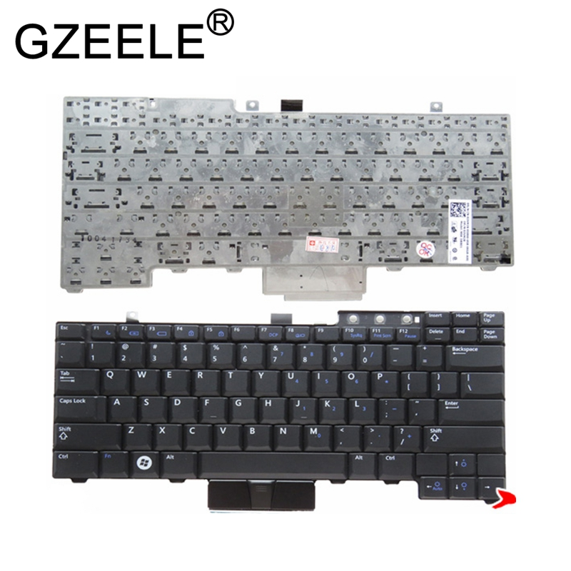 GZEELE US Keyboard For Dell Latitude E6400 E6410 E5500 E5510 E6500 E6510 For Precision M2400 M4400 No Backlight