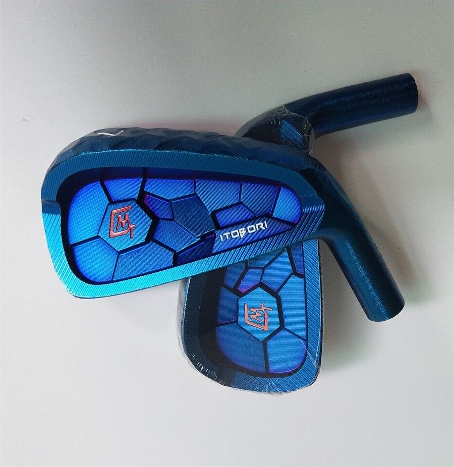 Playwell 2018 Itobori couleur bleue tête de fer de golf forgé en acier au carbone CNC fer à bois