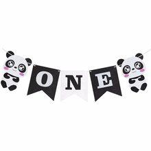 Staraise Buon Compleanno Panda Set SONO Un Di Compleanno Banner Panda Palloncini per la Decorazione Bambini Festa di Compleanno Della Ragazza del Ragazzo Di Compleanno