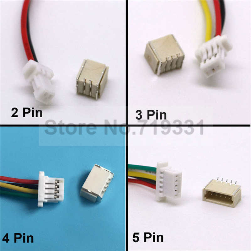 5Pcs SH 1.0 Wire Cable Connector DIY SH1.0 JST 2/3/4/5/6/7/8/9/10 ...