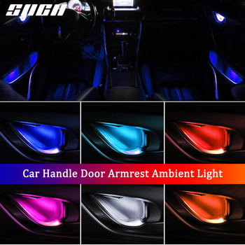 4PCS Atmosphere Light Auto Interior Inner Door Bowl Handle Armrest Light Car Ambient Light For Porsche 718 Boxster Cayman 911 image
