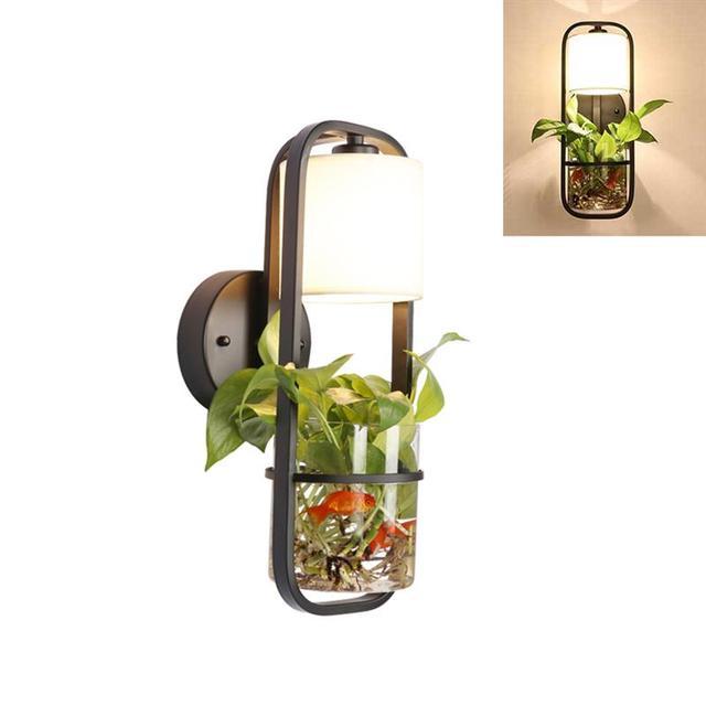 Moderne Schwarze Hängende LED Hause Leuchte Lampenschirm Pflanze Aquarium  Glas Schmücken Für Wohnzimmer Küche Lampe