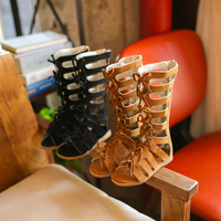 KKABBYII Girls Sandals Summer New Children S High Roman Shoes Baby Princess Peep Toe Beach Shoes