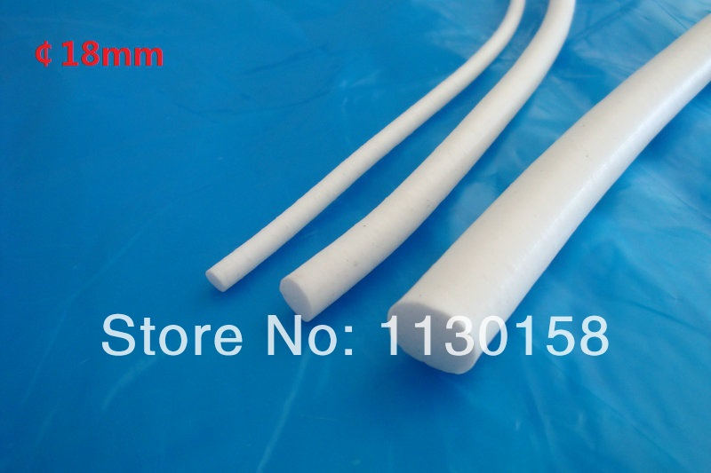 Top Quality Silicone Foam  Cord 18mm Diameter, 2Meters Silicone Rubber Foam Rod White Color Heat Resist for Mechanical Sealing