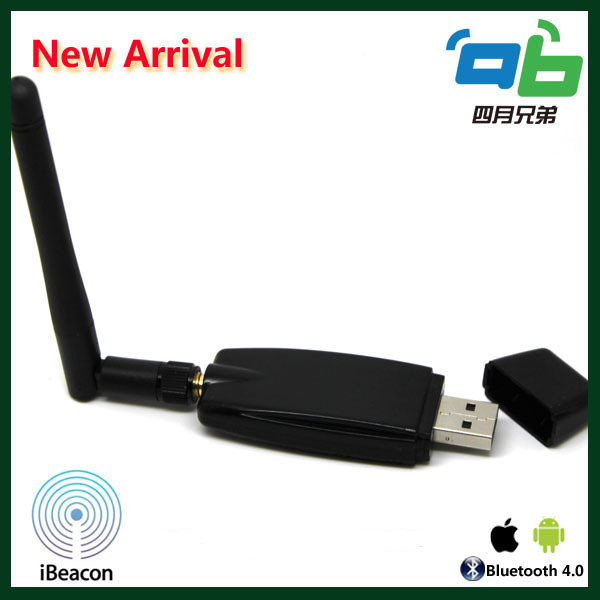 New arrival ble 4.0 USB ibeacon with external antenna effect range for 50m