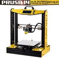 Высокая точность плюс размер Prusa i4 3d принтер комплект с 2 рулонов нити + sd карта в подарок