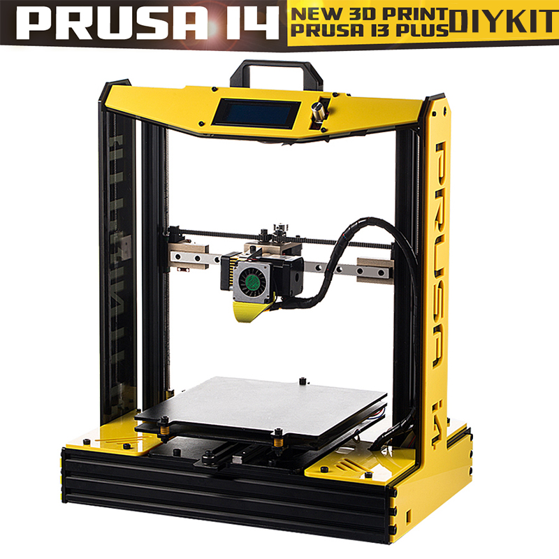 High Precision Plus Size Prusa i4 3D Printer Kit With 2 Rolls Filament SD Card As