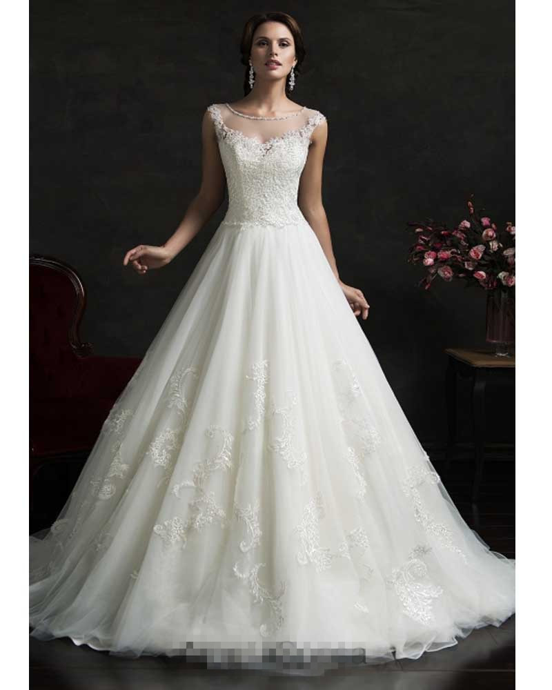 Vestido De Noiva Vintage Lace Cinderella Wedding Dress Ball Gown ...