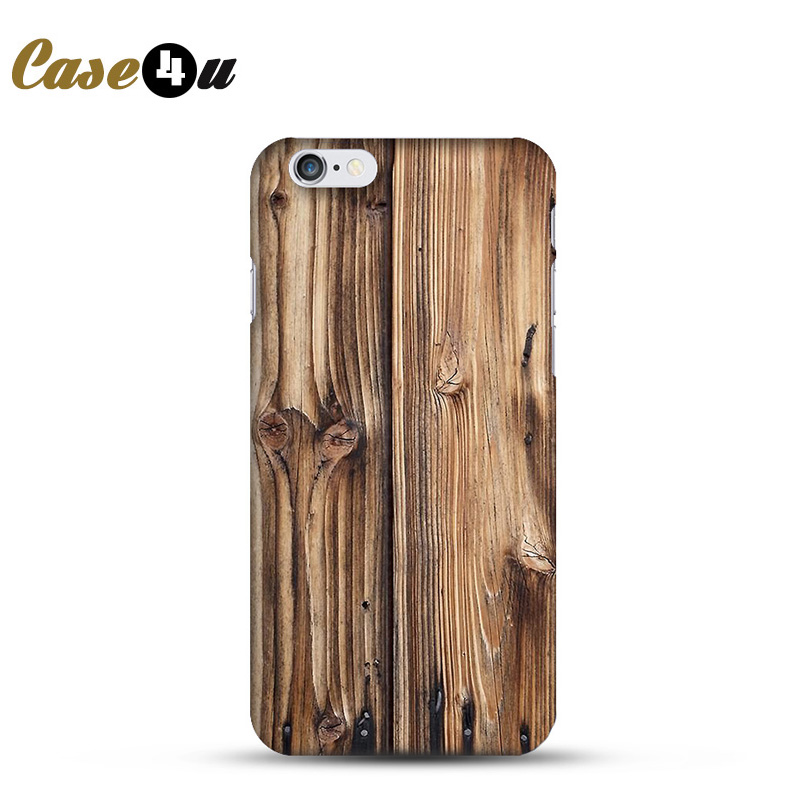 For capinhas para iphone 4s 5s 6s 6plus Original Wooden Pattern Phone Case Cover Plastic PC Hard Back Coque Celular Fundas