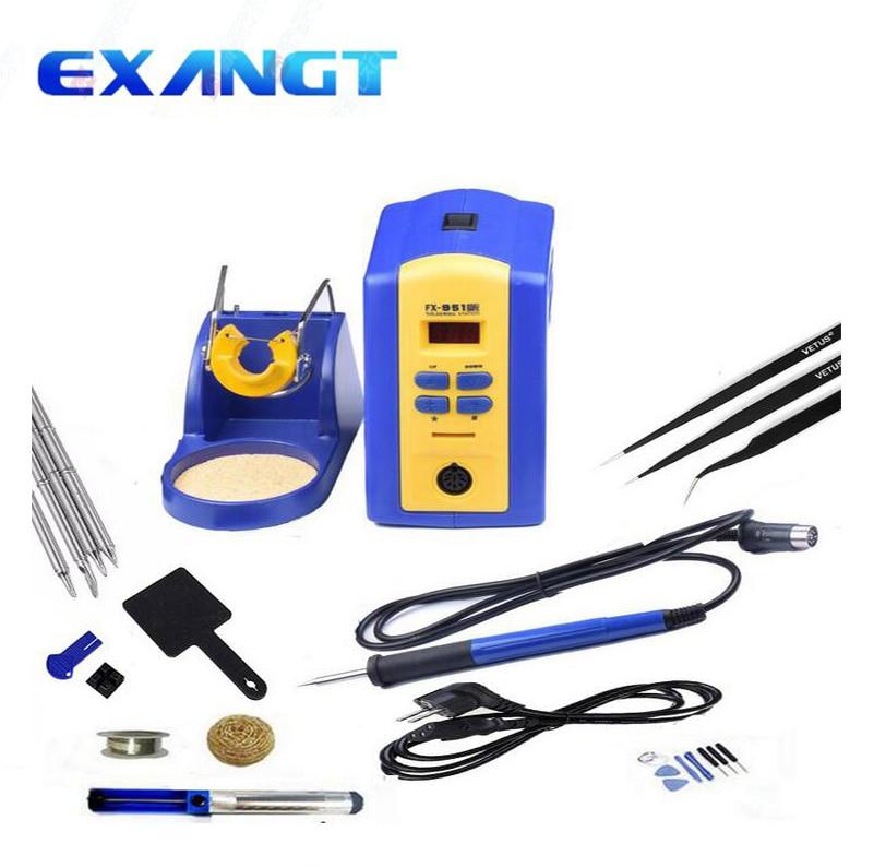 Electric Soldering Irons Uyue Fx-951 Fx951 Digital Soldering Station Set Kit/electric Soldering Iron Set Kit 75w+t12tips 4pcs Welding Equipment