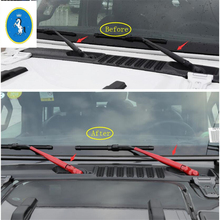 Yimaautotrims Auto Accessory Front Windshield Window Windscreen Rain Wiper Cover Kit Colorful Fit For Jeep Wrangler JL 2018 2019