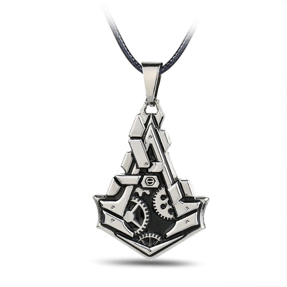 Assassins creed games free online - Personality Online Game Assassins Creed Necklace Alloy Collier Jewelry Pendants Charm Necklace Chain Men S Accessories Gift