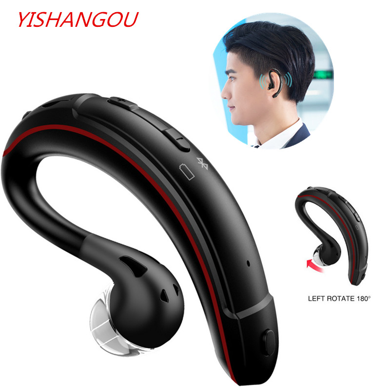 Wireless Single Car headphone Portable Handsfree bluetooth 4.1 180 Rotation Earbuds Earphones with Microphone Business Earphone