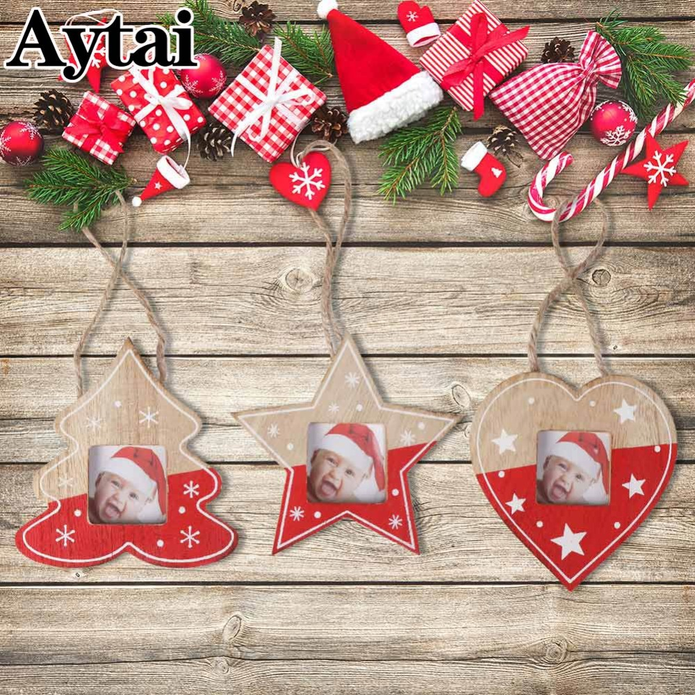 Aytai Christmas Photo Frames Wall Art Hanging Picture Photo Frame ...